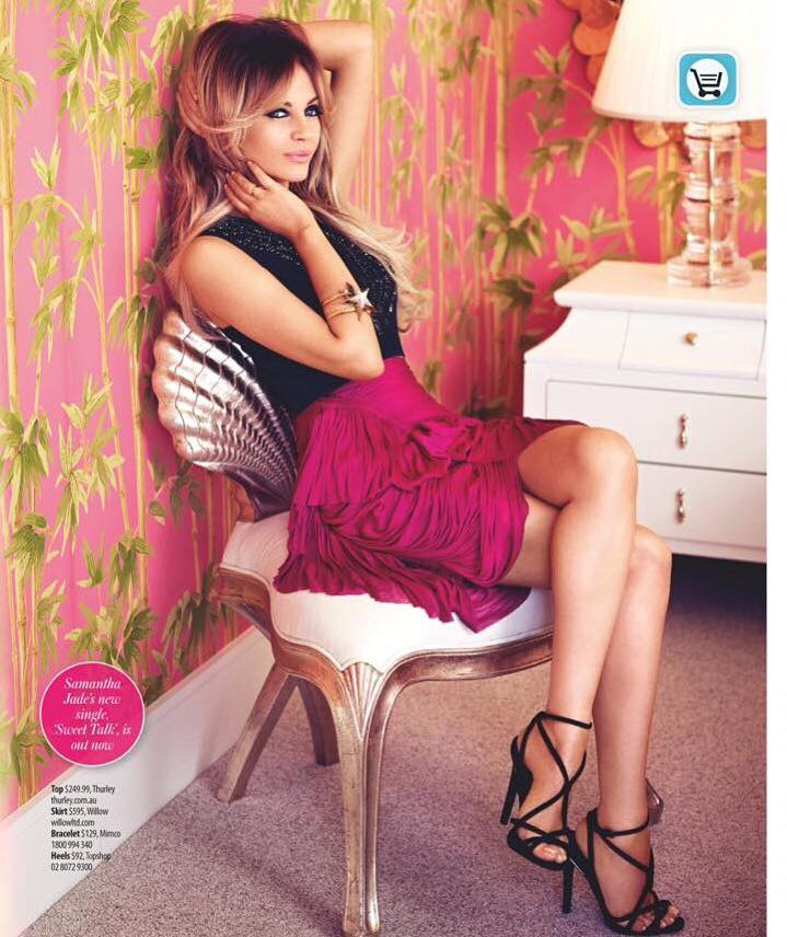 Samantha Jade in WHO Magazine, with nail styling by Sydney's leading nail stylist Skye McIntyre
