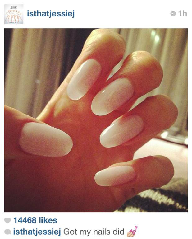 A stunning translucent manicure for Channel Nine's The Voice's superstar coach, Jessie J