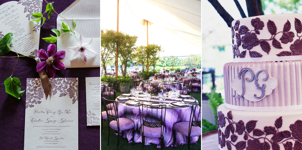 Rebecca Reategui Weddings // Enchanted Garden // Kevin Chin Photography // Rosewood Sand Hill Menlo Park // Zephyr Tents  // Plum