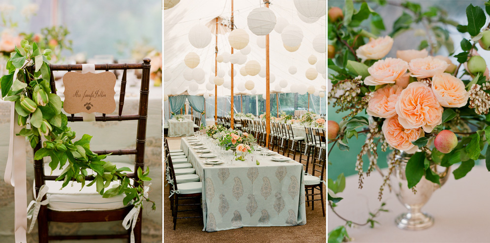 Rebecca Reategui Weddings: Event Planning + Design // Dreamy Durango // Lisa Lefkowitz Photography // Ariella Chezar Flowers // Zephyr Tents // Blue // Peach // Lanterns // Rustic