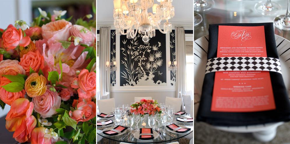 Rebecca Reategui // Mad Men Inspiration // Suzy Clement Photography // Fairmont San Francisco // Penthouse // Coral // Cherries Flowers