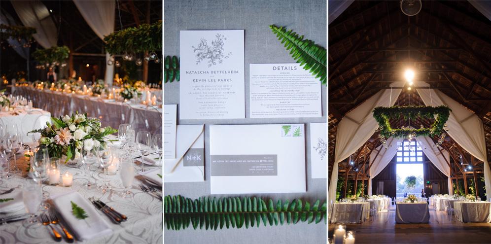 Rebecca Reategui Weddings // Ranch Chic // Photography by BellaLu // Gray // Ferns // Barn