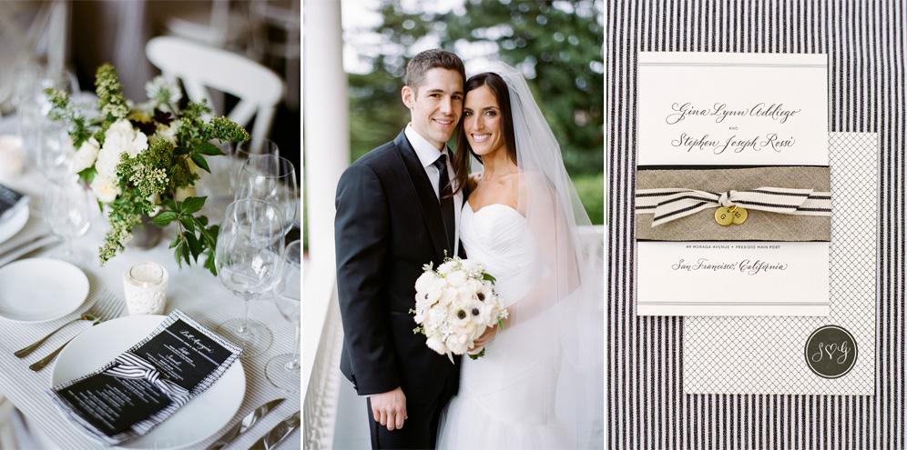 Rebecca Reategui Weddings // Relaxed Elegance in the Presidio, San Francisco // photography by Josh Gruetzmacher // Black + White