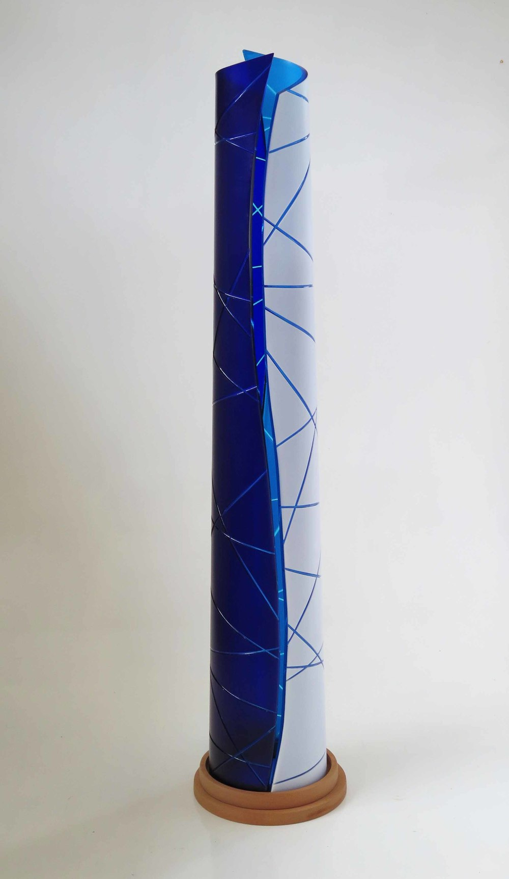 Anne Sorensen    Crossroads  Kiln Formed Glass Carved Surface 120cm x 40cm Photographer: Barry Sorensen