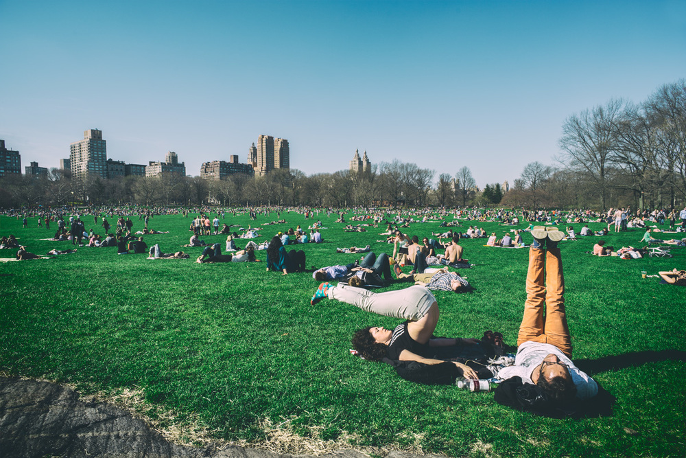 Stretching in Central Park | 2014