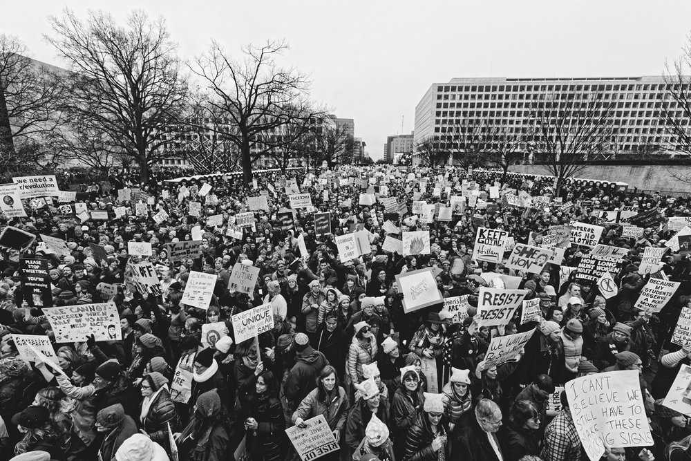 People and Signs: This is Democracy! (D.C. Women's March) | 2017