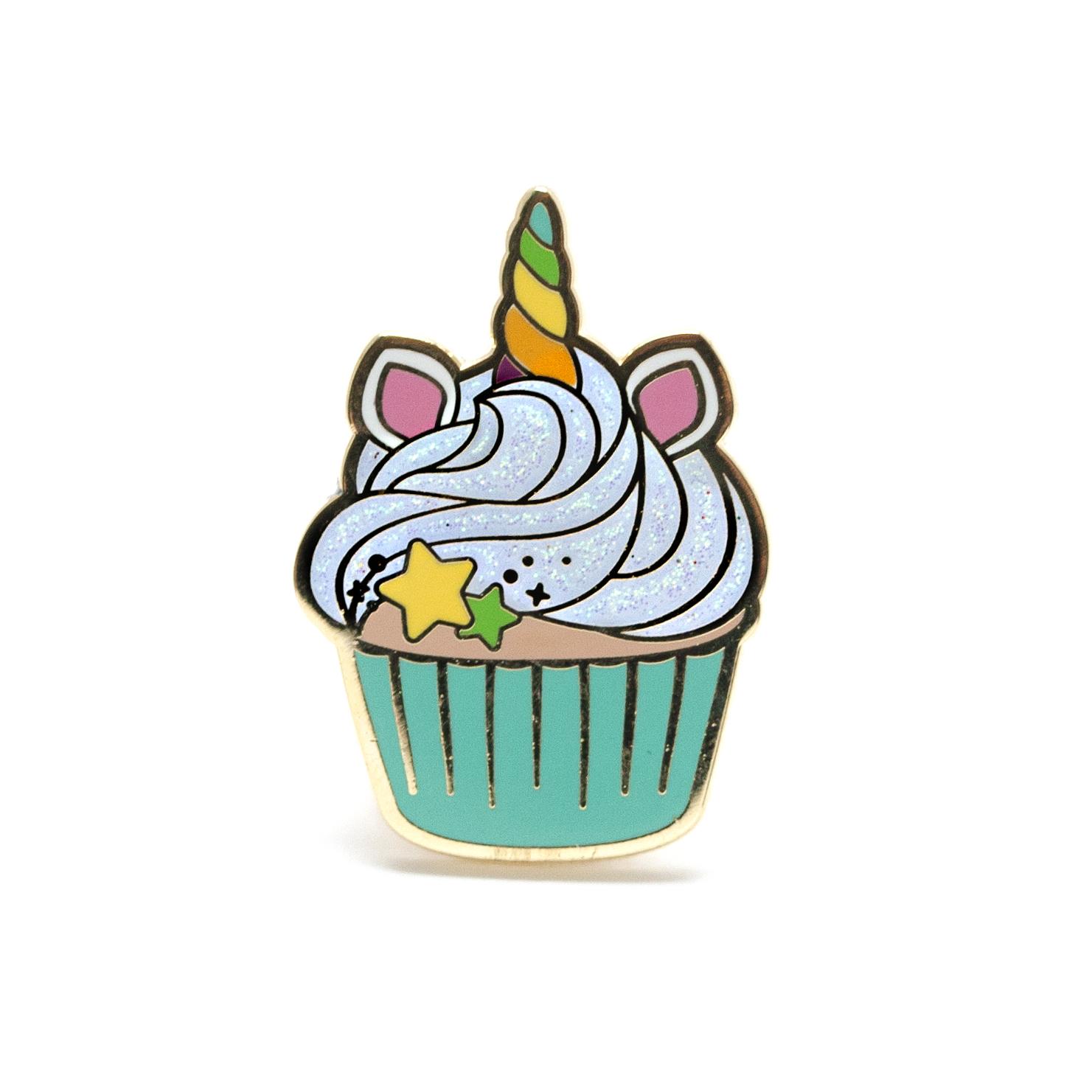 Unicorn Cupcake Enamel Pin — LuxCups Creative