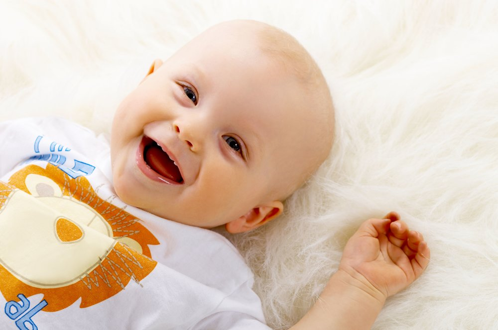 Happy baby laughing Lactation Classes Washington DC