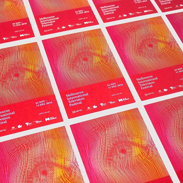 My major project is completely up on my site! So check out the full brand identity I designed for the Melbourne International Television Festival from publications to advertisements to web. (link in the bio) — #design #communicationdesign #tdkpeepshow #print #printisnotdead #brandidentity #publication #websitedesign #poster #aiga #vector #branding #television #festival #melbourne #logo #identitydesign #graphicdesign #logotype #red