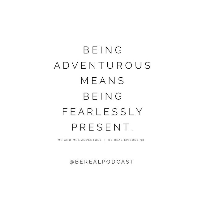 Couldn't have said it better myself. @mrandmrsadventure drop all the wisdom on the latest episode of Be Real. Don't miss out!! Learn how they quit their jobs and travel the world full time in a van. Link in bio ✨ |  #loveadventurously #fearlesslypresent