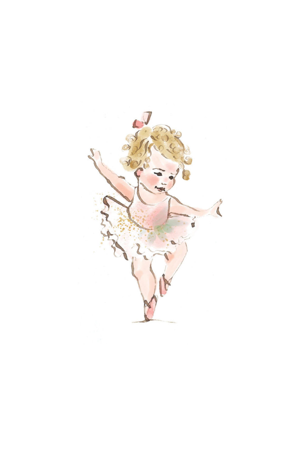 Tiny ballerina | curly blonde
