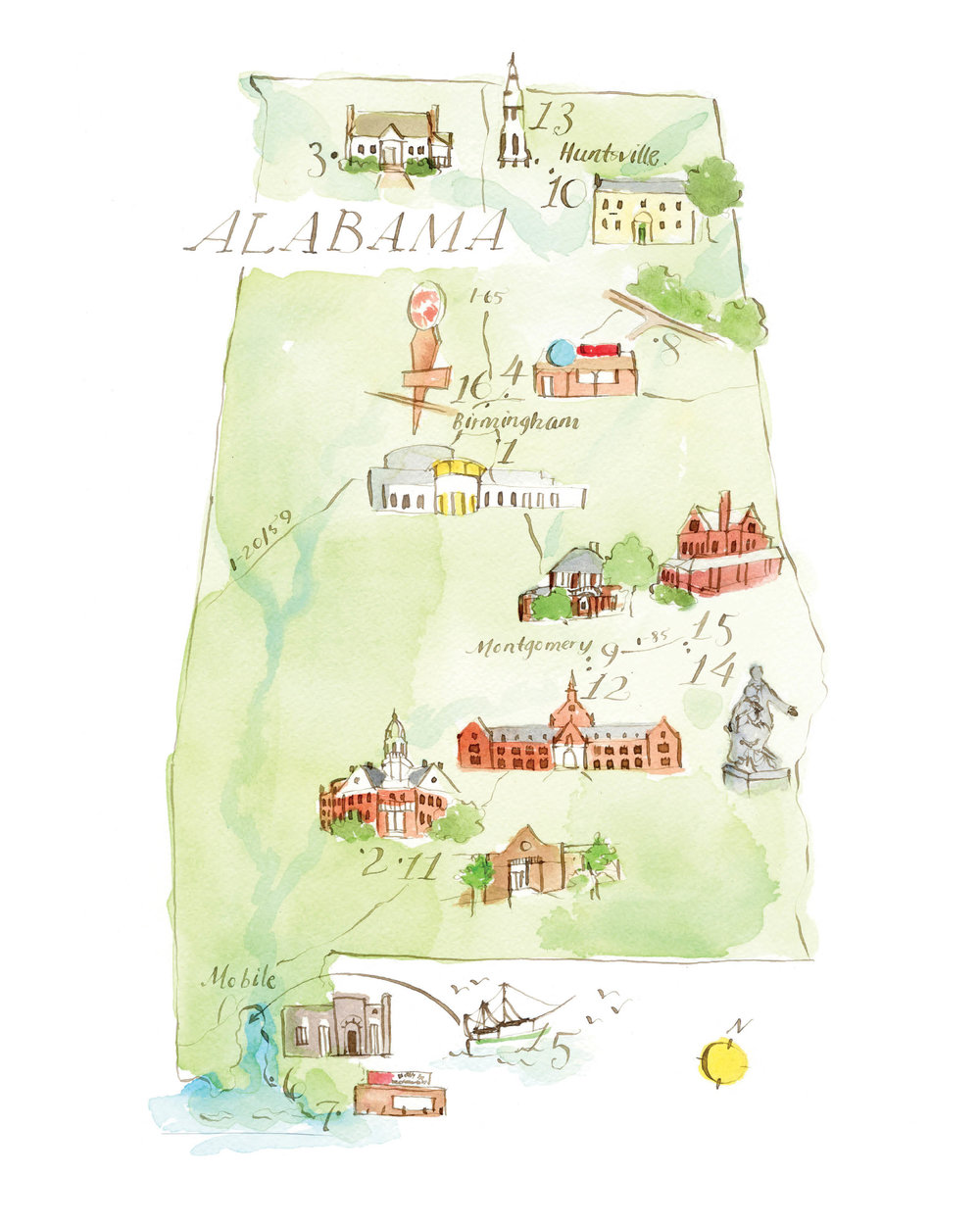 Literary Map of Alabama