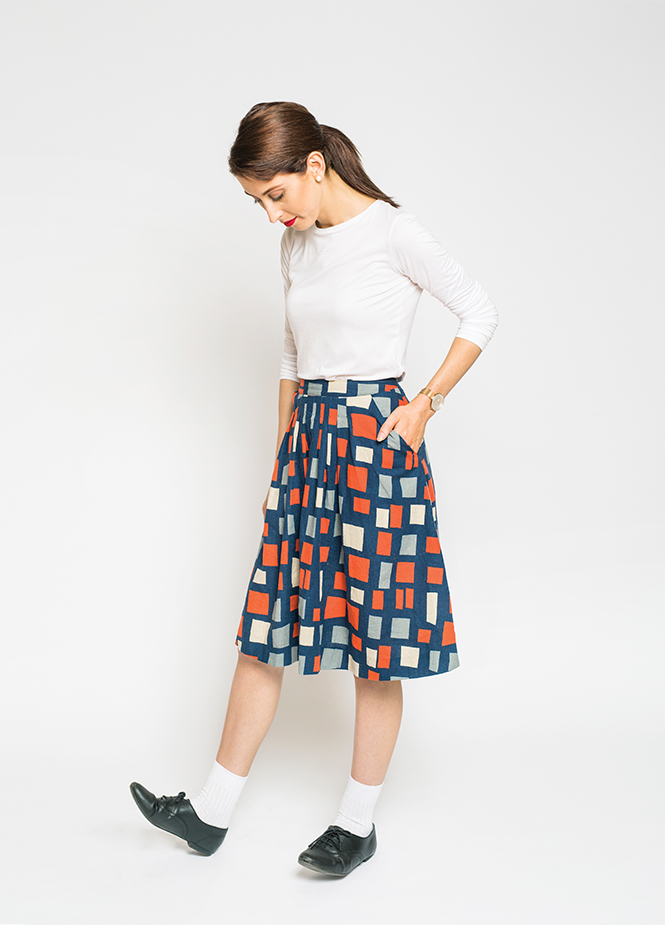 PEPPERMINT PLEATED SKIRT - FREE