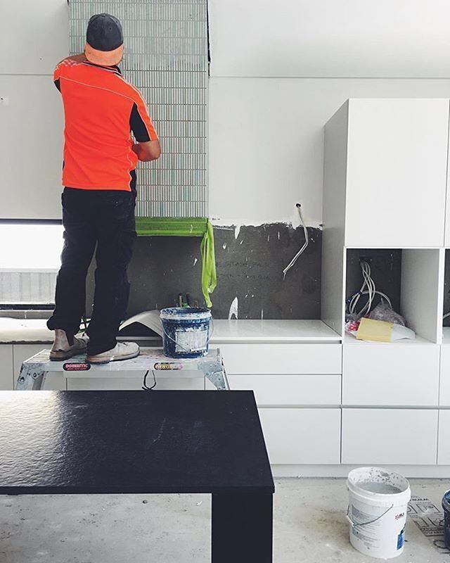 Book a one-hour consultation with one of Australia's best architects - link in bio. Because design should be for everybody. ⠀ .⠀ Image from MeetBrief consultant @robeson_architects.⠀ kitchen progress at Subiaco house. A bit of brushed and honed granite from @berninistone and tiles cladding the rangehood by @artedomus .⠀ #architect #interior #design #designer #architecturelovers #homedesign #architecture #archilovers #interiordesign #moderndesign #homeinspo #housedesign #home #interiors #modern #designs #designers #perthisok #perth #melbourne #house #interiordesigner #australiandesign #australia #australianarchitecture #pertharchitecture #pertharchitects #designconsultant #instagood #architectureporn