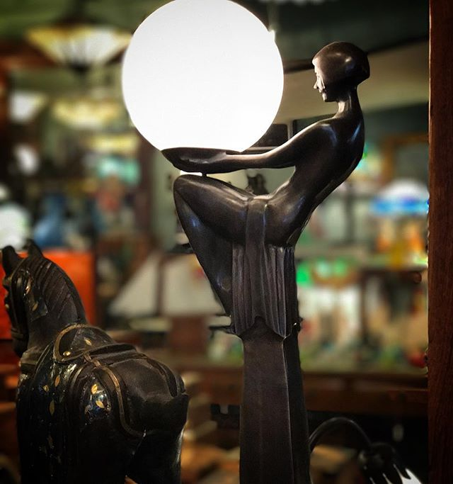 This beautiful Art Deco lamp is the perfect piece for both modern and classic homes. New and exclusive to #Mangana. Priced at $698.