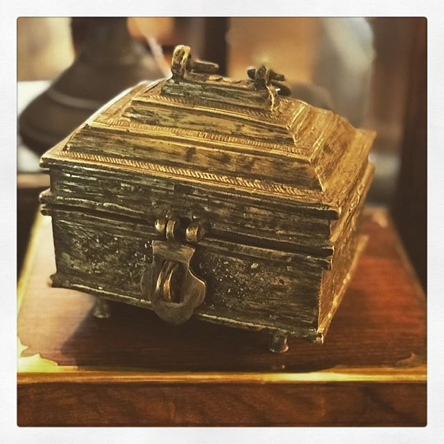 This one of a kind Indian antique brass box $398 is just one of many of our new treasures handpicked for you in store now.
