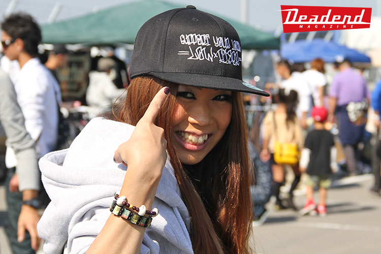 "This young lady had on our rare ""Support Your Local Low Rider"" baseball cap."