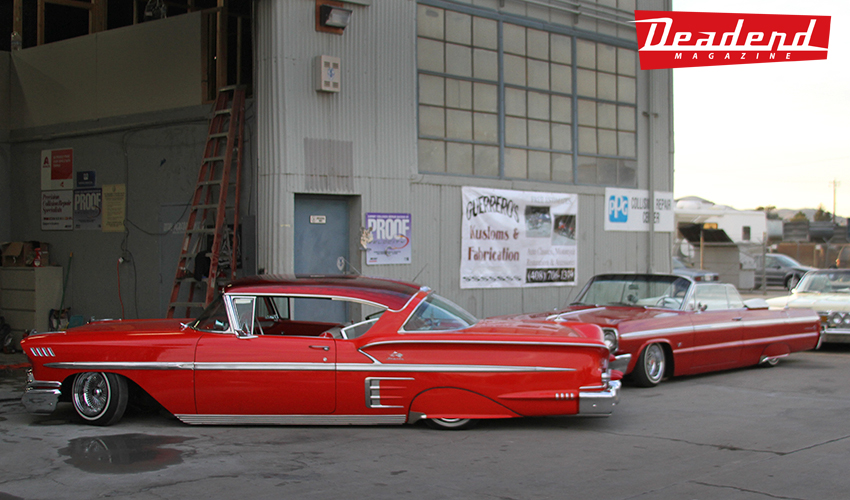 Just a couple of the clean Impalas at the Guerrero Kustoms compound.