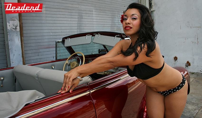 For our second shoot with Tracey we shot her with our friend's convertible.