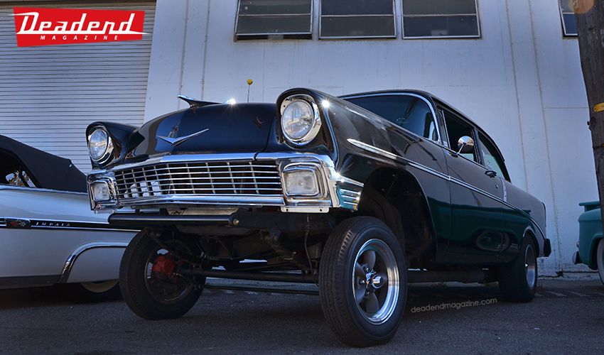 Many low riders & even this neat gasser Chevy.