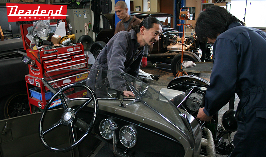 The fellas at Art's body were prepping their hot rods to drive from Nagoya to Yokohama
