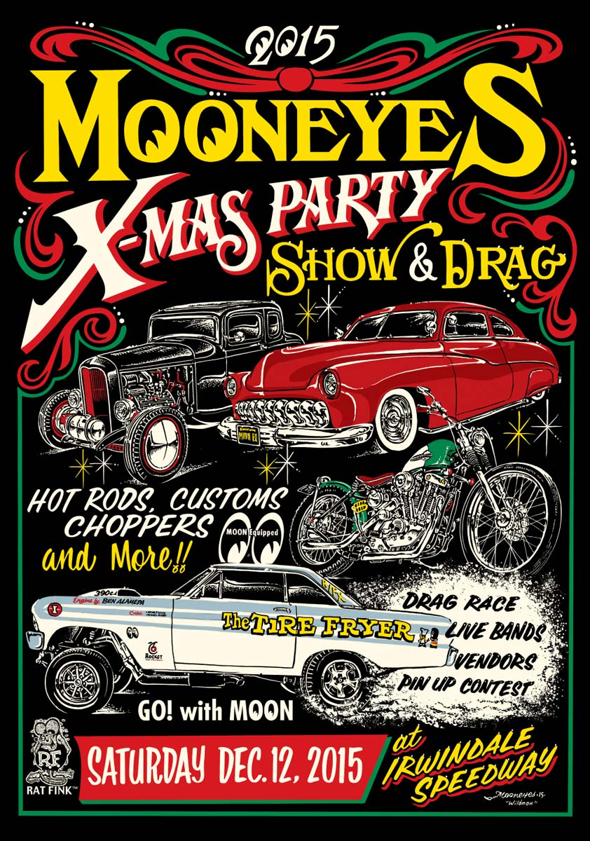 Our first stop in Southern California this Saturday, Mooneyes X-Mas Party