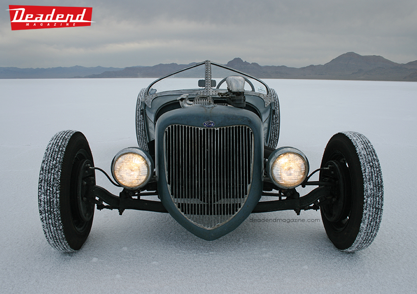Eddie's roadster in Bonneville also made it into the book.
