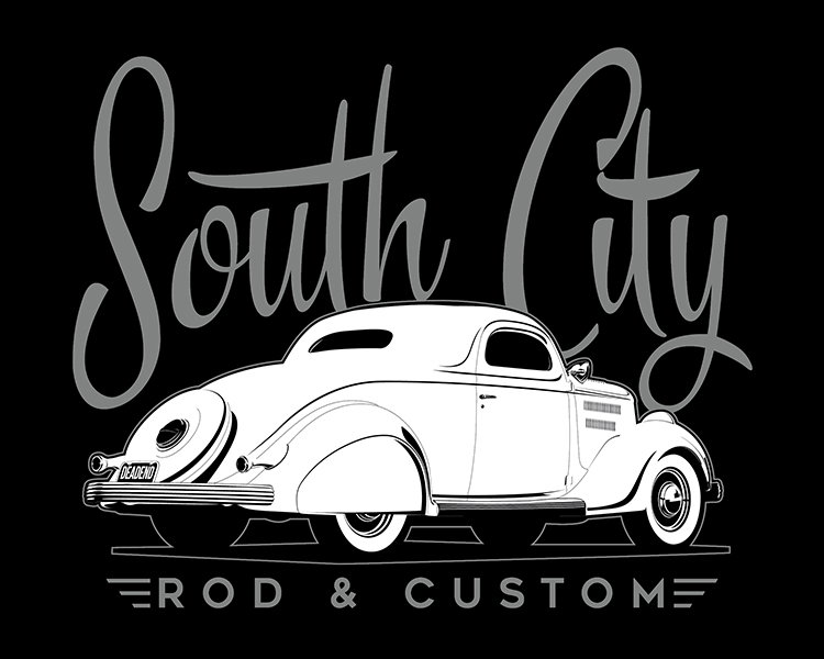 We designed this for our friends over at South City Rod & Custom.