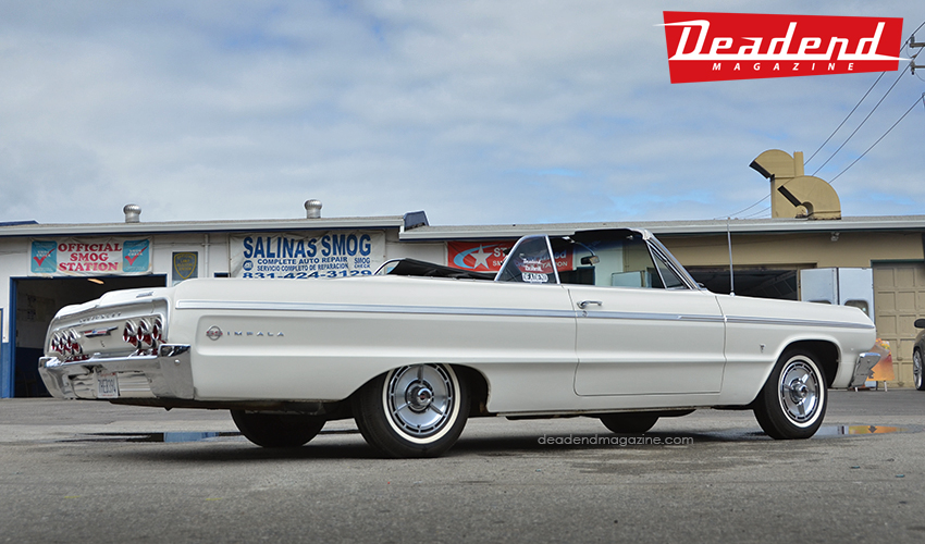 We used this super clean original 1964 Impala.