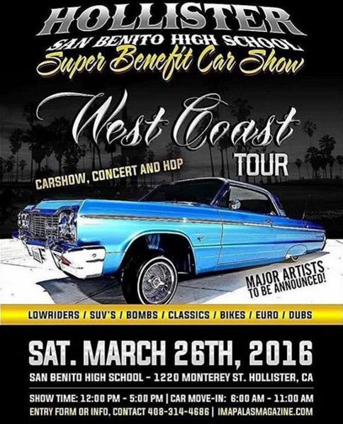Hollister Super Benefit Car Show March - Car show tomorrow