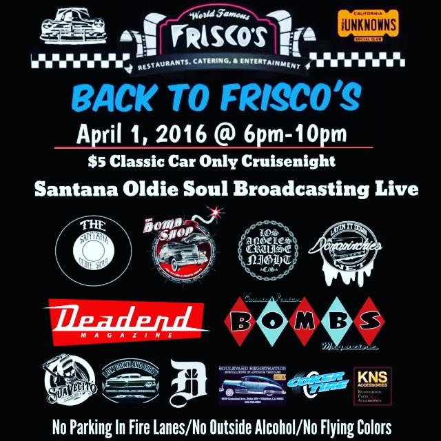 Back to Frisco's - 18065 Gale Ave. City of Industry, CA
