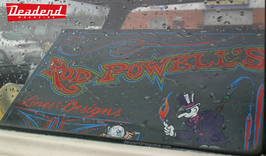 A look inside Rod Powell's wagon.