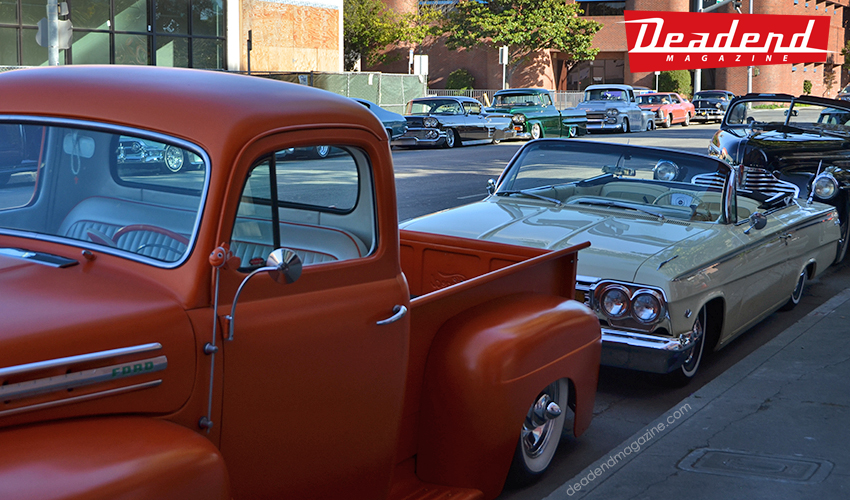 Both sides of the street were packed with classics.