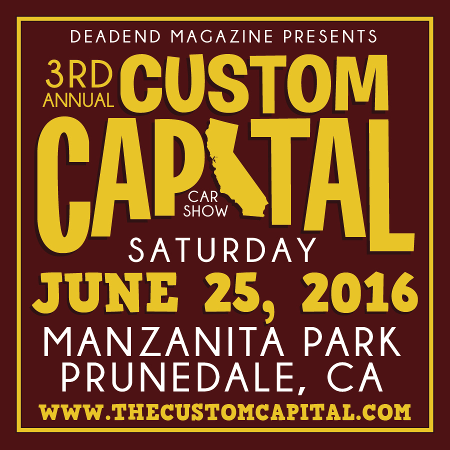 We hope to see you this weekend at the 3rd Annual Custom Capital!