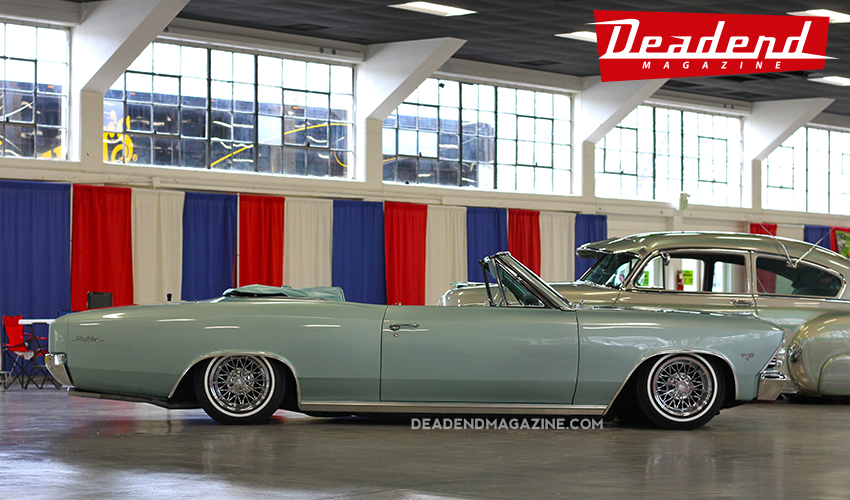 Jorge Nunez displayed his 1966 Malibu convertible with a fresh new paint job & wheels.