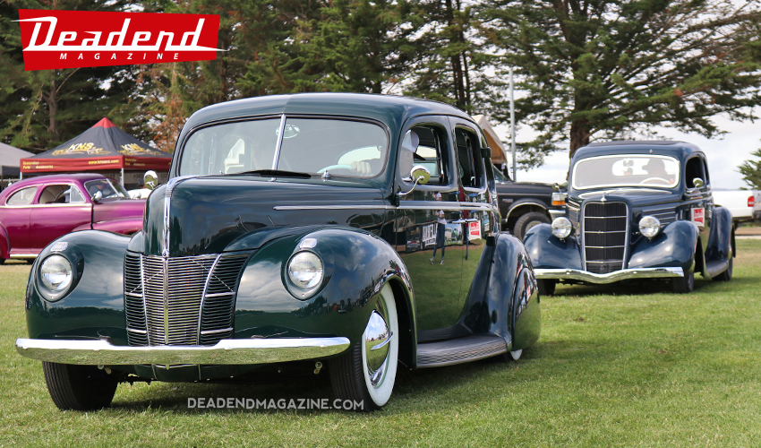 This East Bay Speed & Custom built 40 Ford Sedan took home the Payasos Car Club pick. This car;s engine bay is as clean as the outside.
