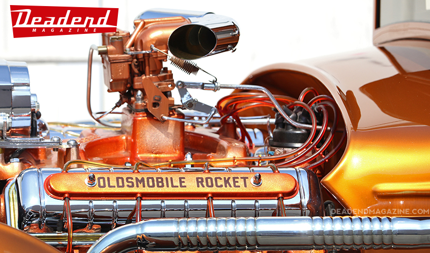 The RodRiguez is powered by a '49 Oldsmobile Rocket engine.