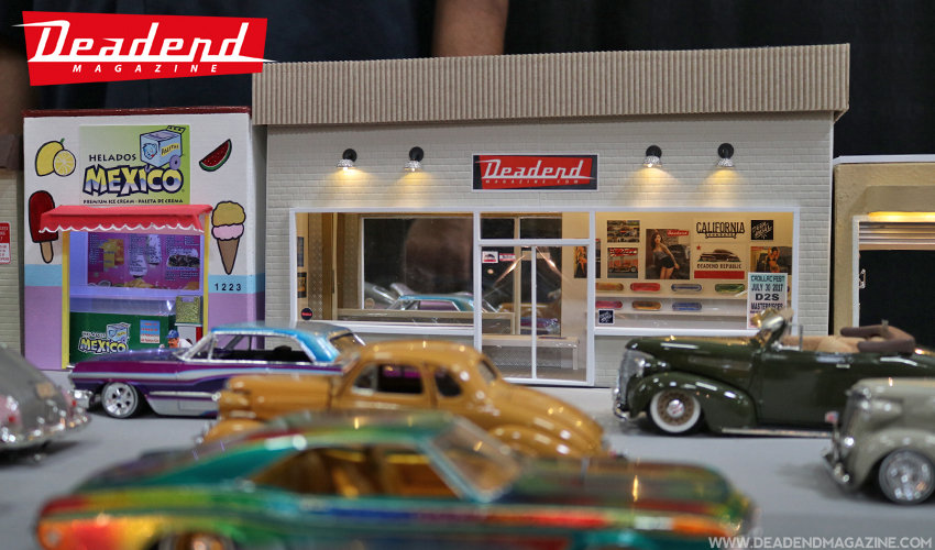 Armando Flores was kind enough to make sure Deadend Magazine was represented in the Whittier Blvd. model car display.