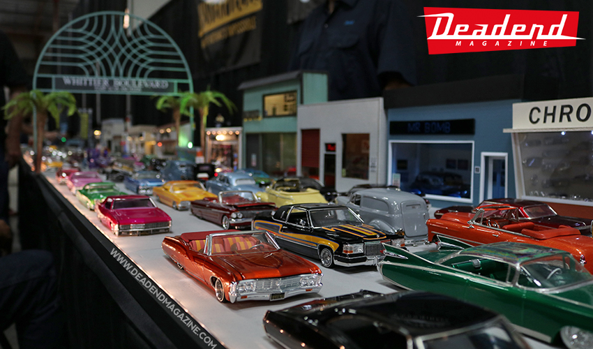 Check out this amazing scale Whittier Blvd model car display!