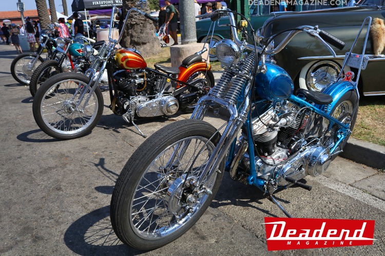There's always a nice line-up of cool choppers at the Ventura Nationals.