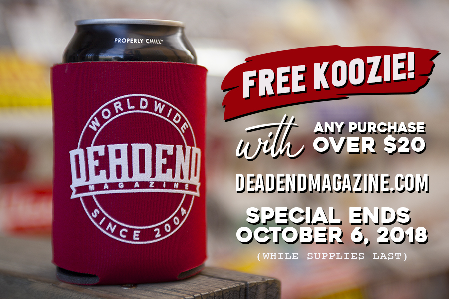 FREE KOOZIE! When you make a purchase of $20 or more.