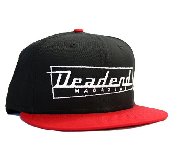 d0baf6db93a Black   Red Deadend Logo Snapback —