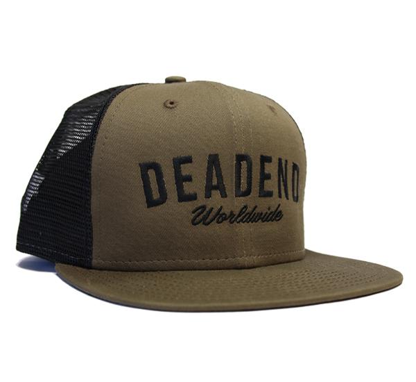 Deadend Plain Text Olive Black Mesh Hat — 7ba01a775f7