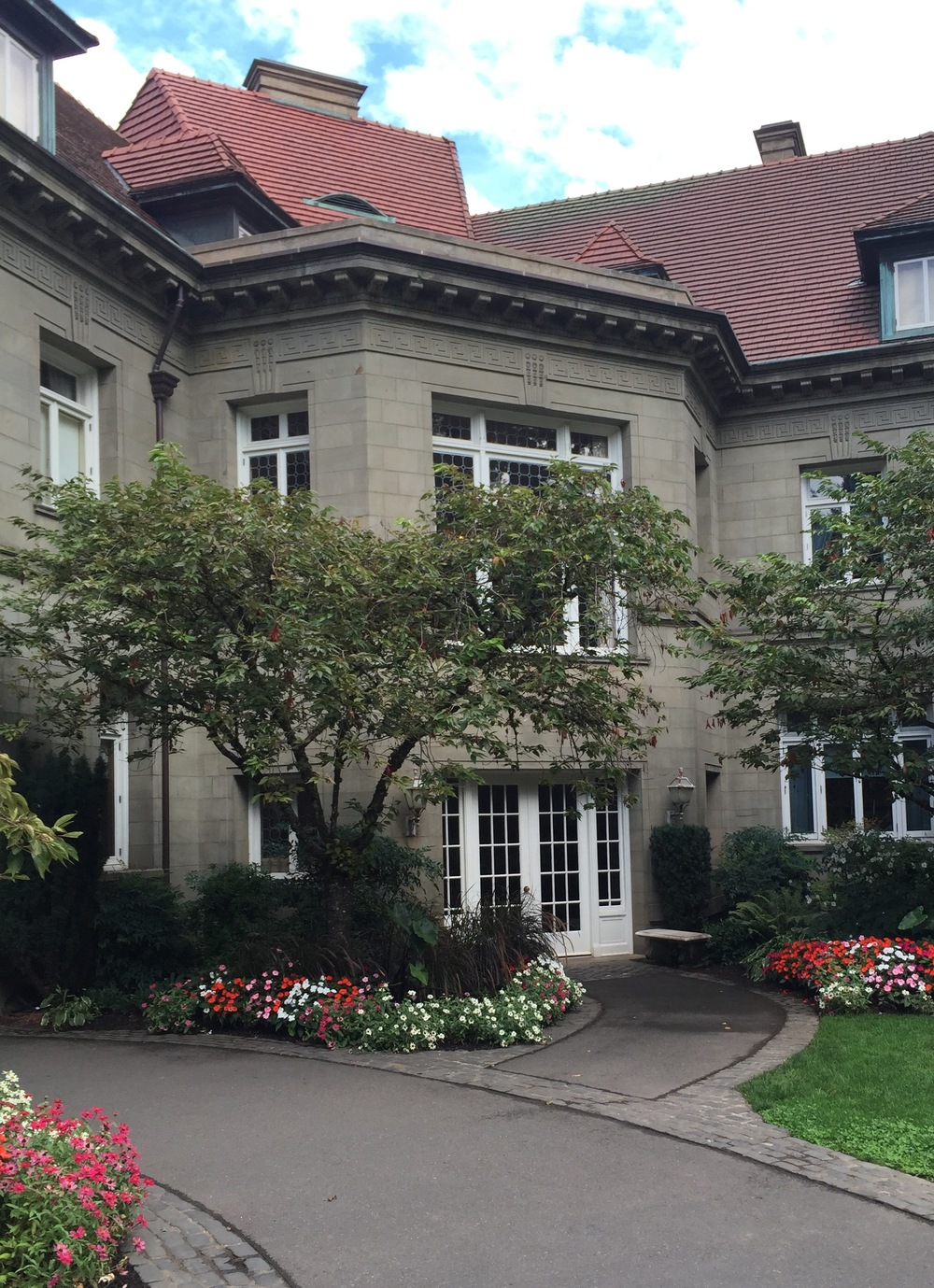 Fig. 2 Pittock Mansion - Rear Facade, entry to stair hall, image by author