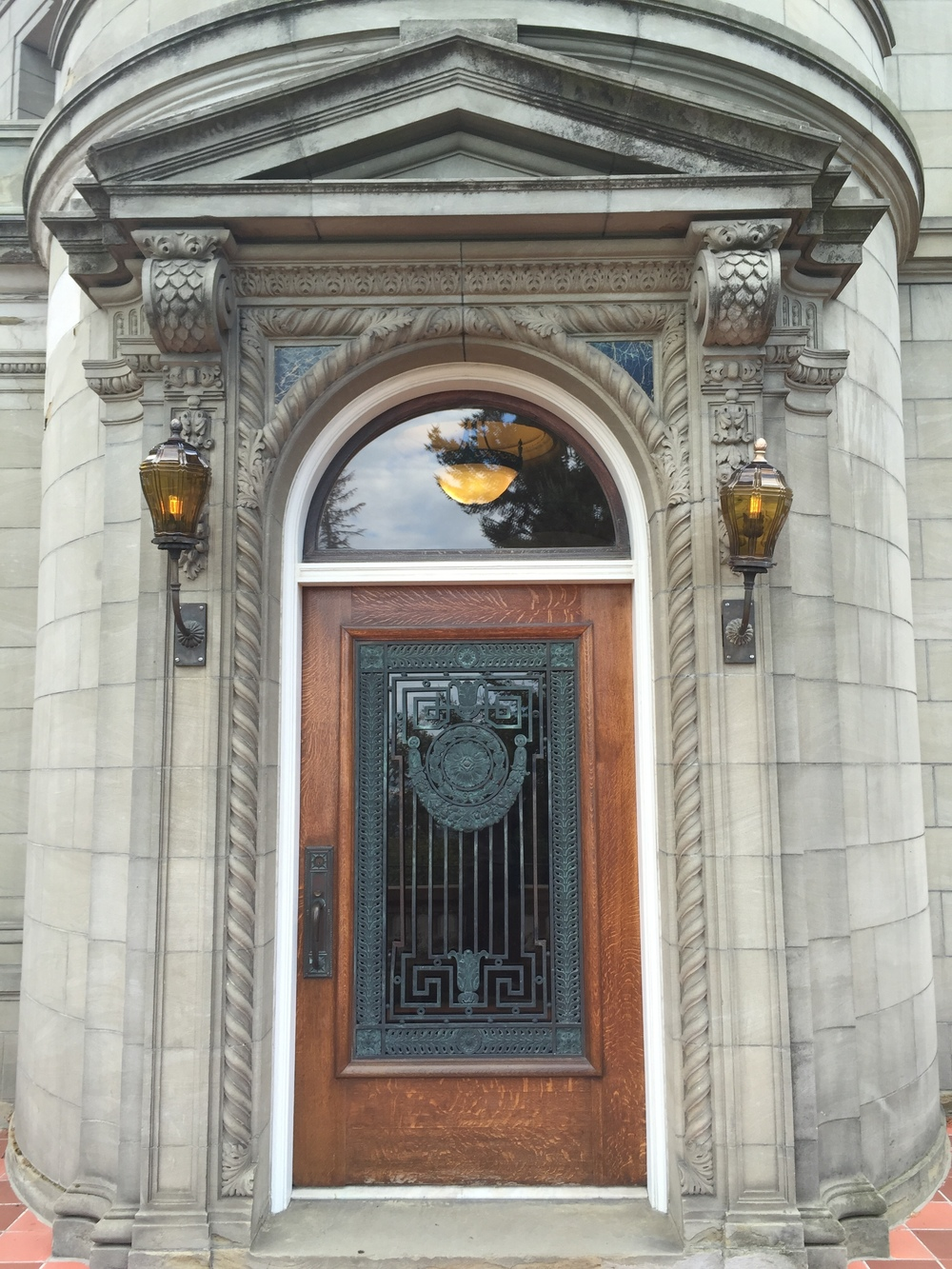 Fig 2. Pittock Mansion, Front Door, Photo by Author