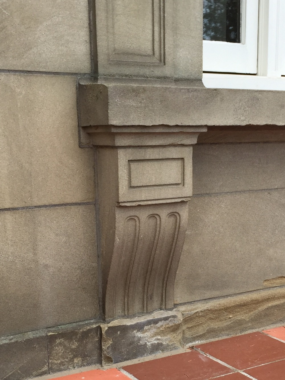 Fig. 5 Pittock Mansion, Doric Bracket Below Sill, Photo by Author