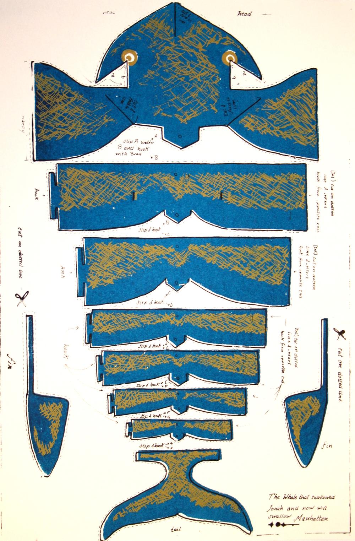 3-D Whale Print