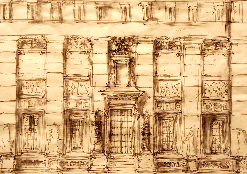 Classically Inspired Facade in the Doric Order