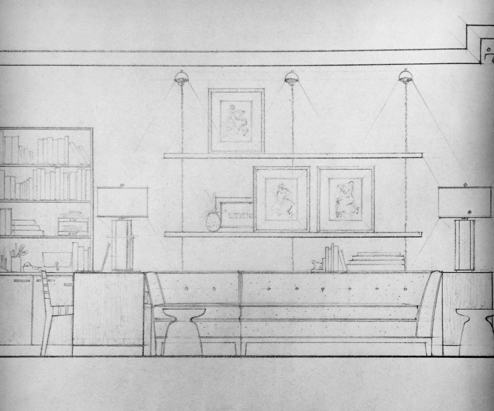 First draft of the interior plans for a condo.