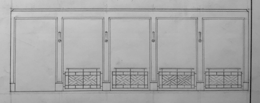 Measured Drawing of Intercolumniation with Chinoiserie Railing